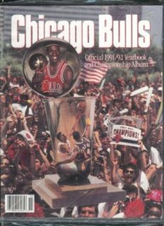 Chicago Bulls Official 1991   1992 Yearbook Championship Album Michael Jordan: Collectibles & Fine Art
