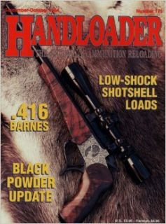 Handloader Magazine   September 1994   Issue Number 171 Ken Waters, Frank C. Barnes, Don Zutz, Steve Garbe, Mike Thomas, Al Miller, Gil Sengel, Layne Simpson, Jim Wilson, John Kronfeld, Wolfe Publishing Company Books