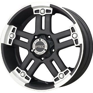 "V Tec Matte Black Machined Wheel (17x8.5""/8x180mm) Automotive"