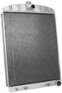 "Griffin Radiator 1 181DF AAX Rat Rod Silver 16"" Wide x 22"" Thick Universal Radiator: Automotive"