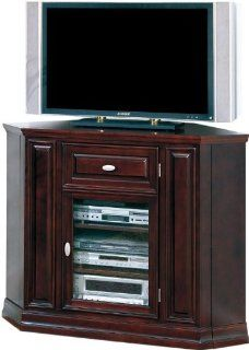 "36"" High Espresso Corner TV Stand HJA415: Office Products"