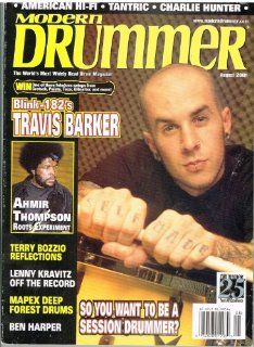 Modern Drummer Magazine (August 2001) Blink 182's Travis Barker / Ahmir Thompson / Charlie Hunter / Lenny Kravitz Off The Record: Everything Else
