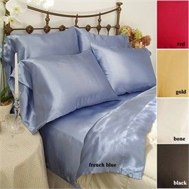 Discount Comforter Sets   Cheap Comforter Sets   Discount Bedding   Charmeuse Solid Color Satin Comforter Set by Scent Sation
