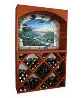 132 Bottle Half Height Diamond Bin Rack with Arch   Wine Storage