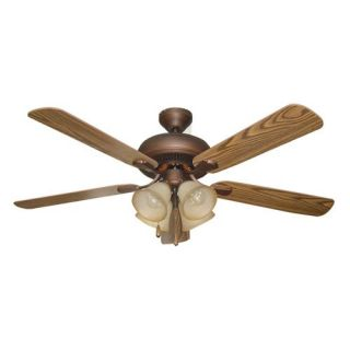 Ellington E PD52ABZ5C4 Piedmont 52 in. Indoor Ceiling Fan   Aged Bronze   Ceiling Fans