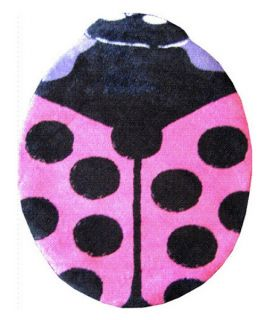 L.A. Rugs Lady Bug Area Rug   Pink   Nursery Decor