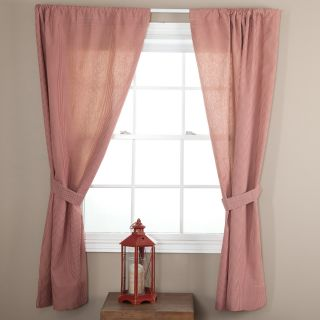 Ellis Curtain Logan Check Tailored Curtain Panel with Ties   One Pair   Curtains