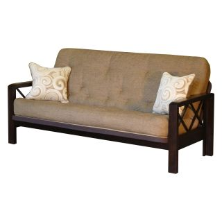 Big Tree Z83666SSF106 E Street Futon with Designer Whirlwind Super Spring Full Mattress   Futons