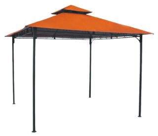 International Caravan Mesa Steel 2 Tier Steel Patio Gazebo with Vent   Gazebos