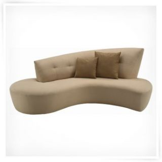 Lazar Retro Bellisimo White Fabric Sofa   Sofas