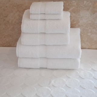 Luxury Hotel & Spa 100% Turkish Cotton 7 pc. Combination including Circle Design Bath Mat   Bath Towels