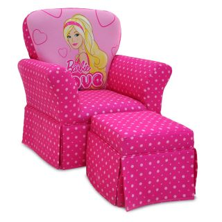 Kidz World Barbie Skirted Rocker and Ottoman Set   Chairs