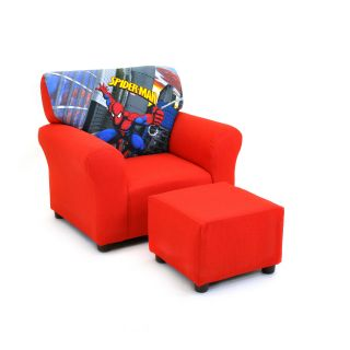 Kidz World Spiderman   Red Club Chair and Ottoman Set   Seating
