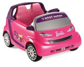 Fisher Price Power Wheels Battery Operated Barbie Smart Car   Battery Powered Riding Toys