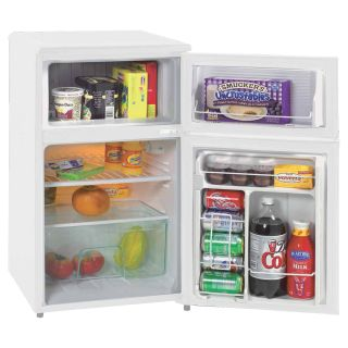 Avanti RA303WT 1 3.1 cu. ft. Two Door Counterhigh Refrigerator   White   Small Refrigerators
