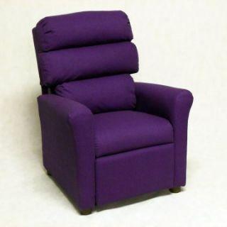 Brazil Furniture Waterfall Back Child Recliner   Solid Purple   Kids Recliners