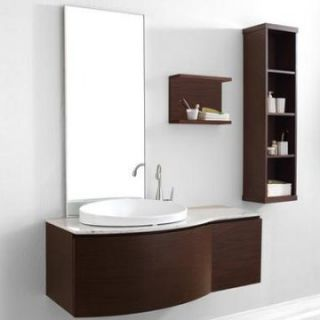 Virtu USA Isabelle 48 in. Single Sink Bathroom Vanity Set   Walnut   Single Sink Bathroom Vanities