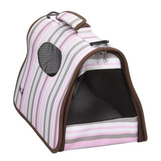 Pet Life Airline Approved Zippered Folding Cage Carrier   Dog Carriers