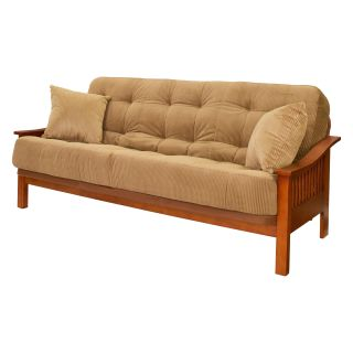 Big Tree Mesa Futon with Designer Legend Coffee Super Spring Full Mattress   Futons