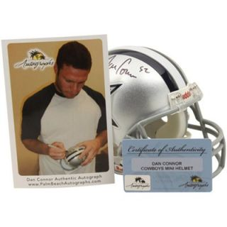 Riddell Dan Connor Dallas Cowboys Autographed Mini Helmet   Silver