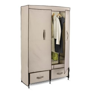 Honey Can Do Double Door Wardrobe with 2 Drawers   Closet Organizers