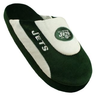 Comfy Feet NFL Low Pro Stripe Slippers   New York Jets   Mens Slippers