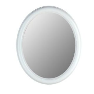 Hitchcock Butterfield Premier Series Oval Wall Mirror   771   Floral White   Wall Mirrors