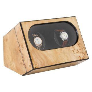 Mapa Burl High Gloss Double Watch Winder   Watch Winders & Watch Boxes