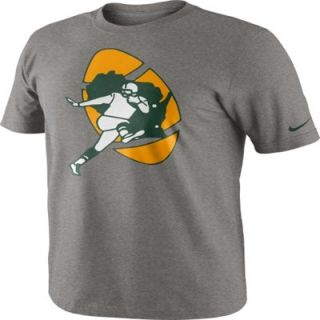 Nike Green Bay Packers Gray Historical Logo T Shirt