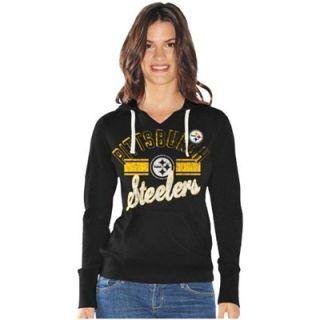 Pittsburgh Steelers Ladies Rivalry Hoodie   Black