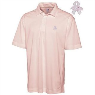 Cutter & Buck Baltimore Ravens Breast Cancer Awareness DryTec Polo   Pink