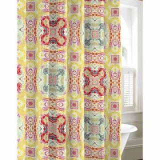 City Scene Medallion Paisley Cotton Shower Curtain   Shower Curtains