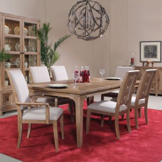 A.R.T. Furniture Ventura 7 piece Rectangle Leg Dining Set   Weathered Chestnut   Dining Table Sets