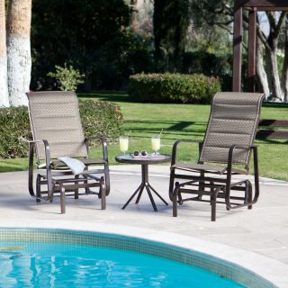 Del Rey Padded Single Glider Set with FREE Side Table   Outdoor Gliders