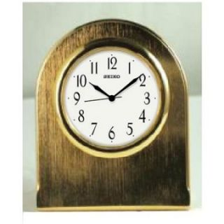 Seiko Gold Tone Mini Desktop Clock   2.5W x 3.25H in.   Desktop Clocks