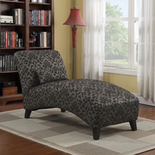 Handy Living Chaise Lounge   Maya Black   Indoor Chaise Lounges
