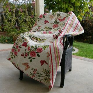 Greenland Home Fashions Butterflies   50W x 60L in. Quilted Throw   Decorative Throws