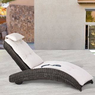 Domus Ventures Isle of Skye Massage Sunlounger Chaise Lounge   Outdoor Chaise Lounges