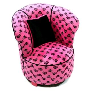 Harmony Kids Tulip Chair   Hot Pink Skull   Specialty Chairs