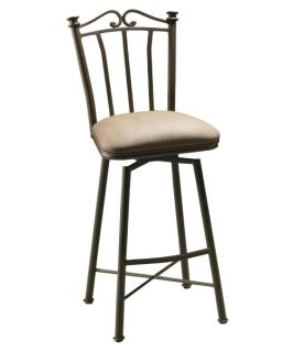 Pastel 30 in. Laguna Swivel Bar Stool   Bronze   Bar Stools