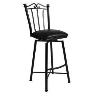 Pastel 26 in. Laguna Swivel Counter Stool   Matte Black   Bar Stools