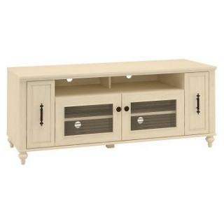 kathy ireland Office by Bush Furniture Volcano Dusk Driftwood Dreams   TV Stand with Pull Out Media Storage   TV Stands