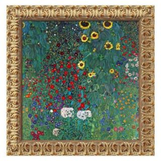 Farm Garden with Sunflowers, c. 1906 Canvas Wall Art by Gustav Klimt   20W x 20H in.   Framed Wall Art