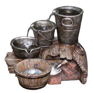 Yosemite Home Decor Three Layered Water Bucket Fountain   Fountains