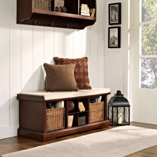 Crosley Brennan Entryway Storage Bench   Mahogany   Indoor Benches