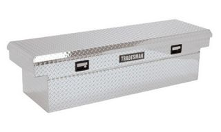 Tradesman Single Lid Deeper Well Truck Aluminum Cross Bed Tool Box for Heavy Duty Trucks   Truck Tool Boxes