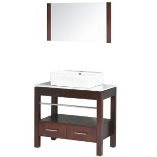 Yosemite Home Decor 35.5 in. Single Bathroom Vanity Set   Espresso   Single Sink Bathroom Vanities