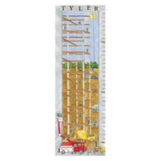 Construction Growth Chart Personalized Wall Art   Kids and Nursery Wall Art