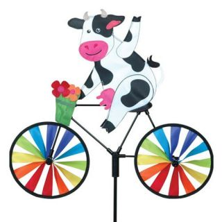 Premier Designs 20 in. Cow Bicycle Spinner   Wind Spinners