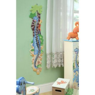 Teamson Design Dinosaur Kingdom Childrens Growth Chart   Kids and Nursery Wall Art